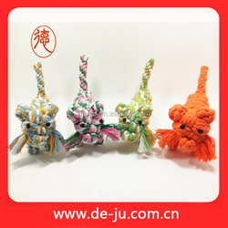 Tiger design cotton strip toys handle tops pet products