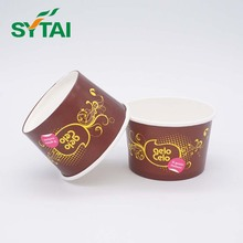 12oz Disposable Double PE Coated Ice Cream Paper Bowl for Hot Sale