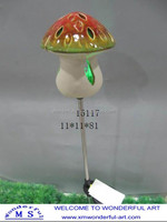 hot sale ceramic mushroom solar lights for garden