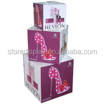 Custom design paper display racks for shoes advertising from China manufacture