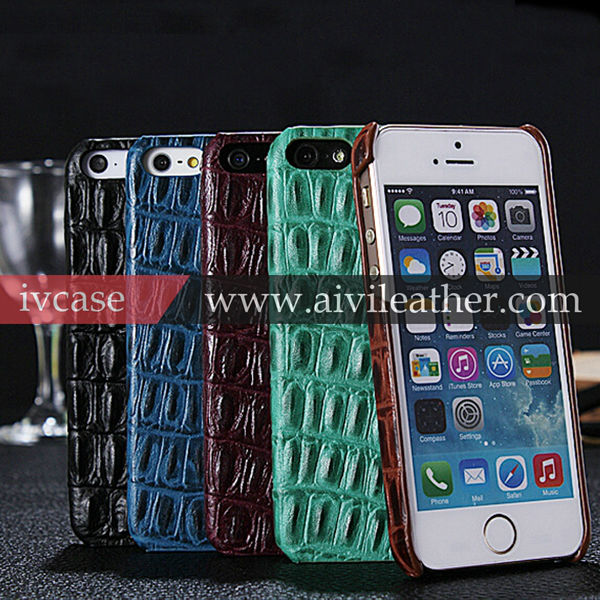 Genuine Crocodile Leather Back Cover Case For Iphone 6 Plus 5.5 inch