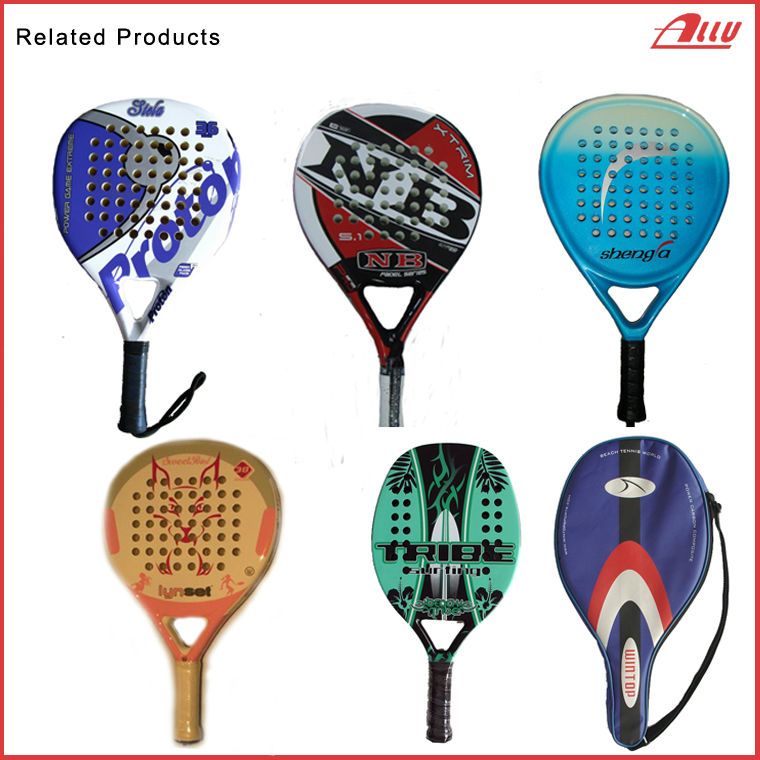 Newest Carbon Light Weight Beach Paddle Racket