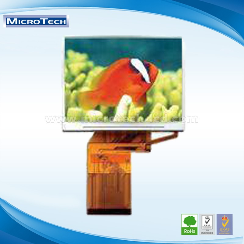 3.0-inch QVGA TFT LCD screen With touchscreen Resolution: 400 x 240 pixels (RGB)