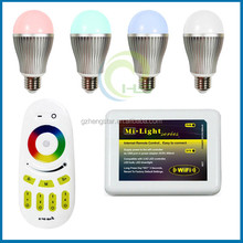 WIFI RGBW hue LED bulb color changing,2014 New arrival wifi led bulb 6w 9W AC86-260V,WIFI RGBW hue LED bulb color changing