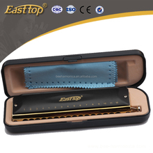 EASTTOP professional 16 holes black chromatic harmonica T1664