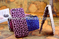 New arrival leopard design flip leather case for iphone5