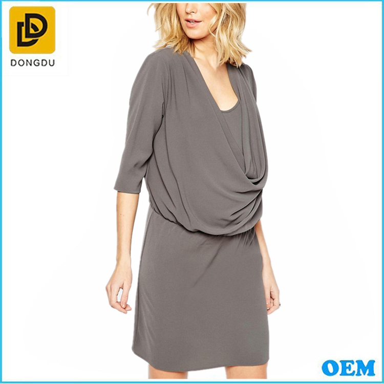 Office Wear Working Breastfeeding Nursing Wrap Front Khaki ...
