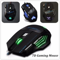 Custom Logo LED Lighted Wired OEM 7D Gaming Mouse
