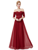 Ever-Pretty Strapless Half Sleeve Long Vintage Evening/Party Dress HE08411