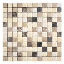 Lander Stone 25mm square colorful mosaic tile egypt emperador light and dark marble mosaic