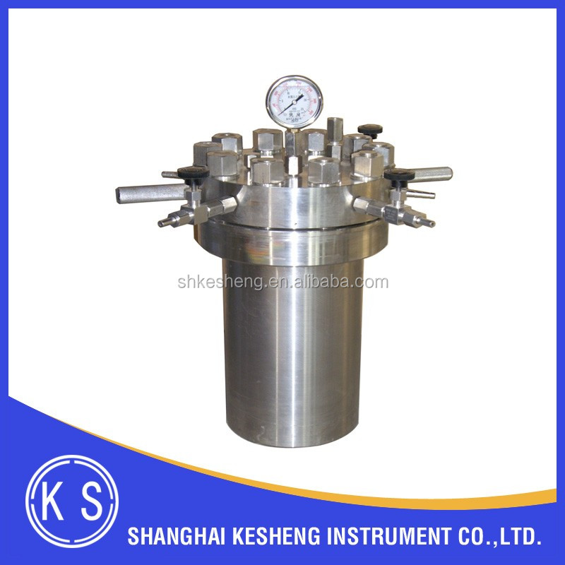 Lab Simple Stainless Steel High Pressure Vessel 2L