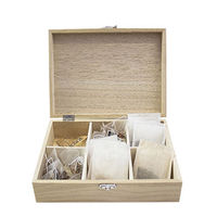 glass lid wooden tea bags storage box Custom luxury high quality with lock and clear window wooden tea box