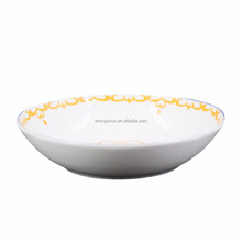 "Hotel Cheap Bulk China Dinner Dessert Charger Plates 10"" White Porcelain Cold Dishes"
