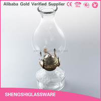 Antique oil lamp chimney glass