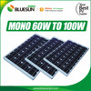 BLUESUN solar panel production line monocrystalline 80w 90w 100w 110w 120w solar panels