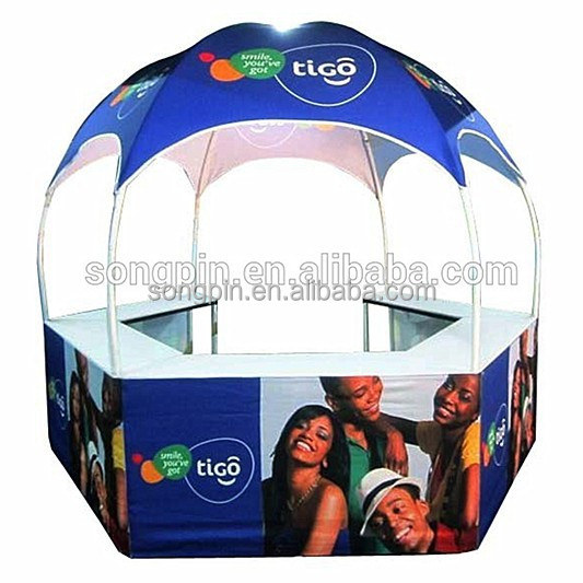 outdoor advertising campaign fashion design dome promotion counter tent