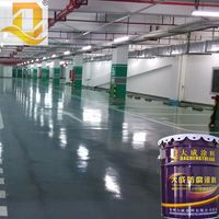 High hardness double component acid resistant epoxy paint