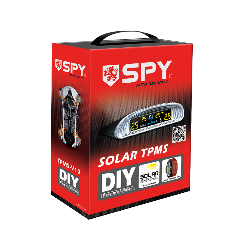 car accessories spy colorful high definition lcd display solar power tpms for car