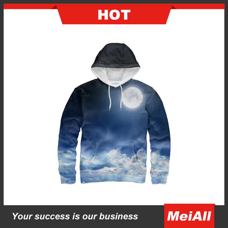 Amazon hot sales custom design unisex 3D print sublimation hoodies