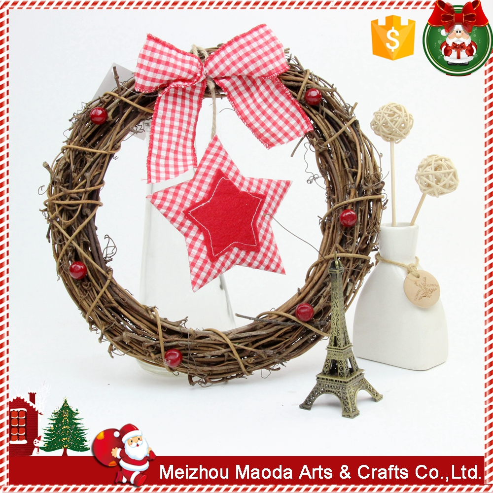 Handmade Christmas decorative crafts natural rattan christmas decorations