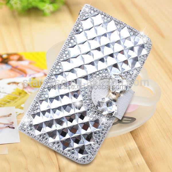 For Samsung Star 3 Duos S5222 Case Cover Wholesale Bling Diamond Leather Case For Samsung Star 3 Duos S5222