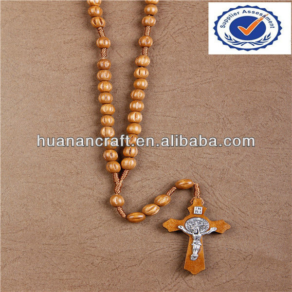 corrugate bead made in china catholic wooden gift rosary