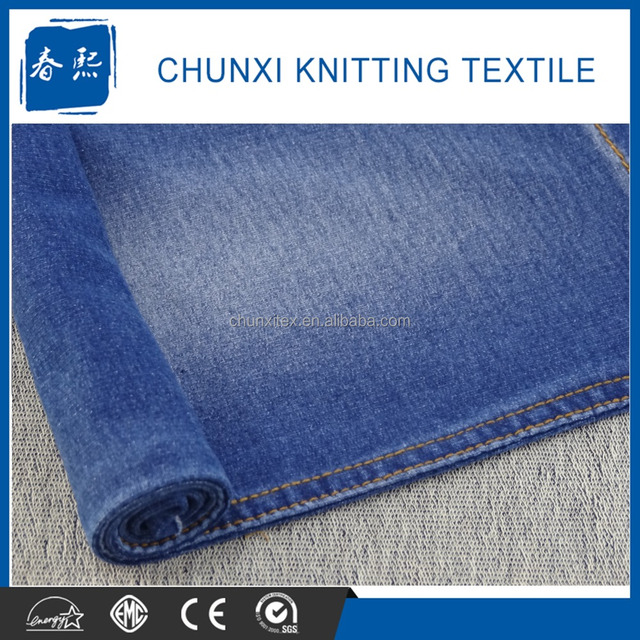 Cotton Spandex Knit Denim Jeans Fabric for wholesale in China