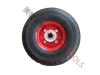 polyurethane coated solid rubber wheel 3.00-4