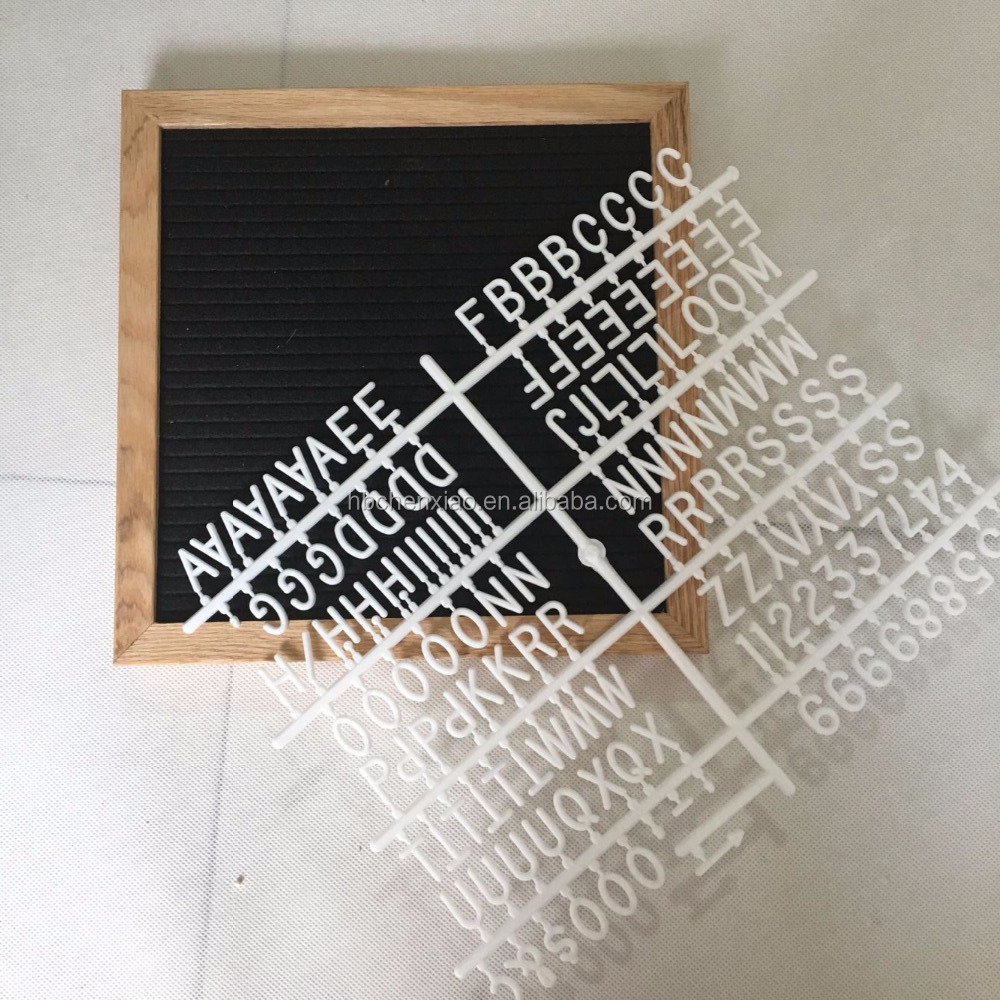 10*10 felt letter board with wooden stent can stand on table