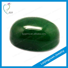 Wuzhou oval rough green untreaded jade