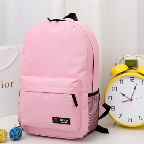 High Quality Pure Teens Nylon Backpack For Girl