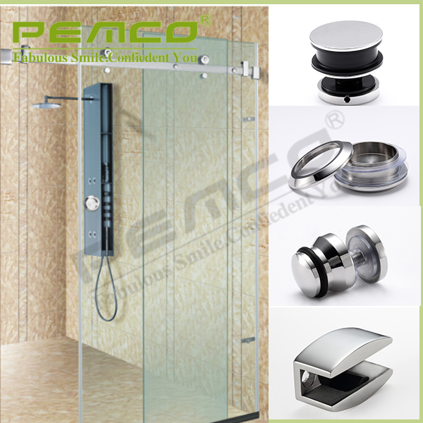 Bathroom accessories 304 stainless steel glass hanging shower door rollers