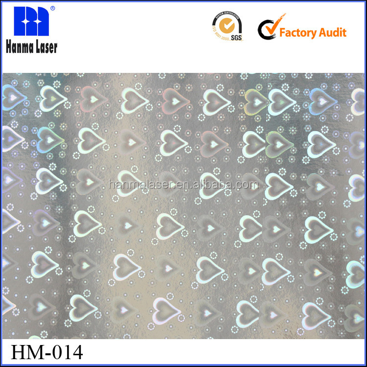 HM-014 18 mic BOPP Holographic Plastic Gift Wrap Film