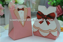 2015 red wedding favor boxes/wedding tuxedo boxes wholesale