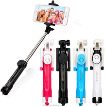 2017 Newest wireless tripod selfie stick, factory wholesale blue tooth selfie stick tripod with remote