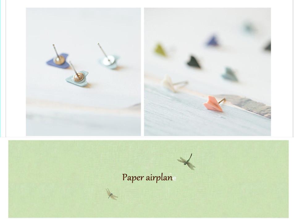 women enamel airplane design wholesale new simple women's earrings studs accessories