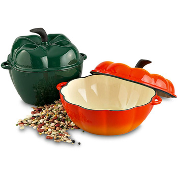 Wholesale Dutch Oven Pumpkin Shape Cast Iron Enamel Cookware