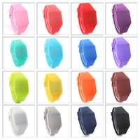 2016 fashion colorful silicon led touch watch factory price wholesale