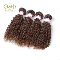 2016 Hot sale fashion top quality chocolate color curly peruvian hair weave