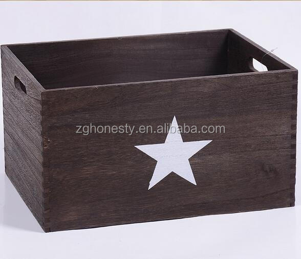 Handmade wooden shabby wine crate,Complete set wooden box