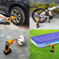 Air Compressor Tyre Inflator Pump 12V Cordless Tire Inflator Air Pump Aquarium Drain Pump for Air Conditioner