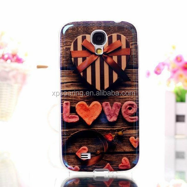 Lovely IMD cover for Samsung I9500, flower IMD TPU case for Galaxy S4, 3D design tpu case for Galaxy S4