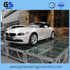 Car exhibition aluminum frame transparent plexi glass stage , trade show light stage