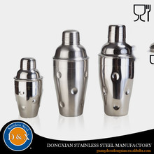 wholesale price bowl shape chrome cocktail shaker