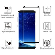 Case friendly 3D Curved Tempered Glass Screen Protector For Samsung Galaxy S8 / S8+