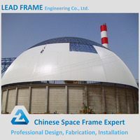 Prefab dome space frame for steel building