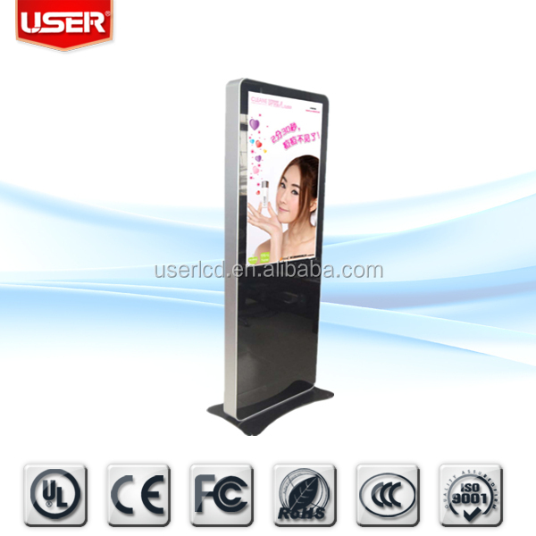 Factory price menu restaurant floor standing touch screen lcd kiosk digital signage kiosk tft with remote control