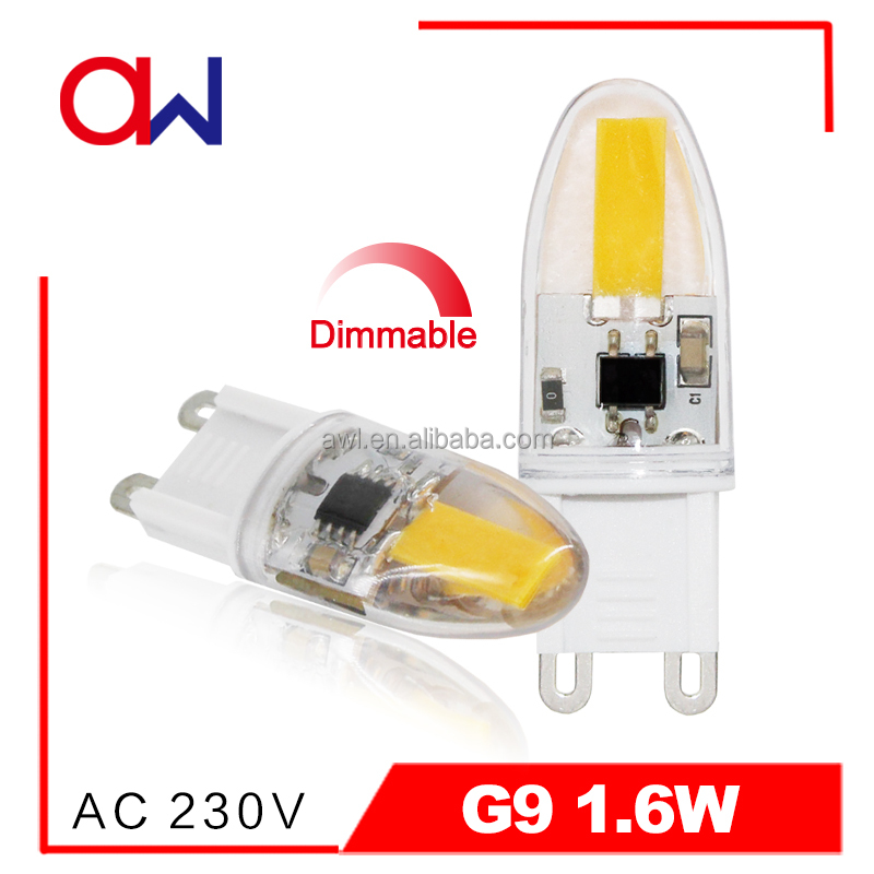alibaba express LED bulb lights PC housing 1.6W 110/220V CE ROHS ETL g9 led mini