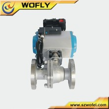2014 China Supplier DN25 Flange 304 Stainless Steel Ball Valve