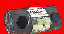 BLACK TRAVEL/PICNIC SPEAKER BLANKET